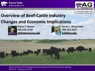 Overview of Beef-Cattle Industry Changes and Economic - AgManager