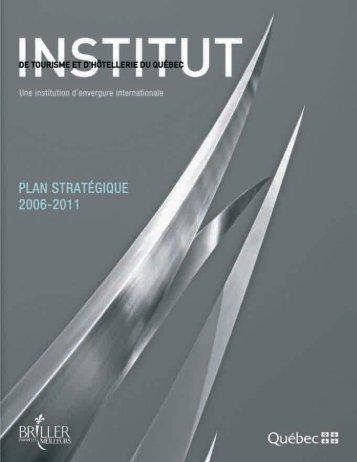 Plan stratégique 2006-2011 - Institut de tourisme et d'hôtellerie du ...