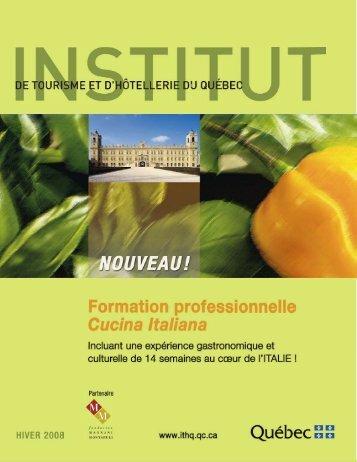 Cucina italiana - Institut de tourisme et d'hôtellerie du Québec