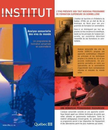 dépliant ASVM - Institut de tourisme et d'hôtellerie du Québec
