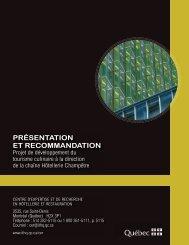 Consulter le rapport de recherche Présentation et recommandations ...