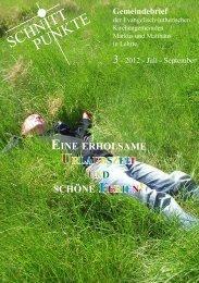 Schnittpunkte2012-03Jul-sep.pdf - Matthäusgemeinde Lehrte