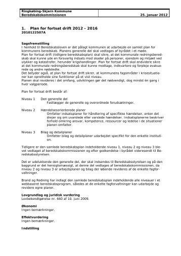 Plan for fortsat drift 2012 - 2016.pdf - Ringkøbing-Skjern Kommune