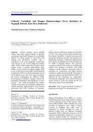 Climatic Variability and Dengue Haemaorrhagic Fever ... - UPM