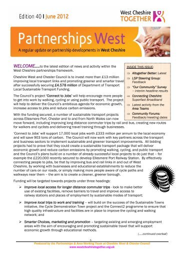 Issue 40: June 2012 - West Cheshire Together