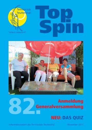 TopSpin 3/11 - Seiten 1 - Tennisclub Teufenthal
