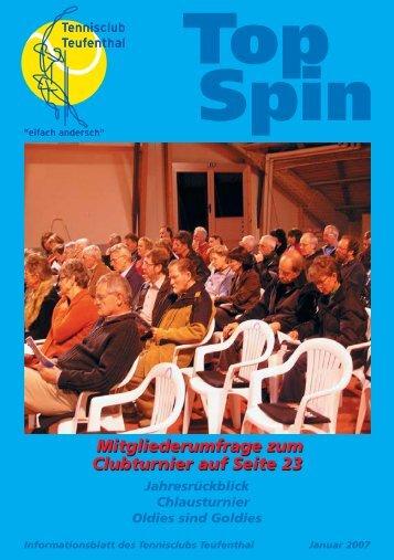 TopSpin 1/07 - Tennisclub Teufenthal