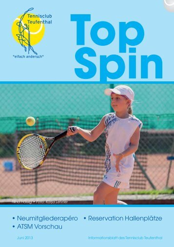 TopSpin 2/13 - Tennisclub Teufenthal