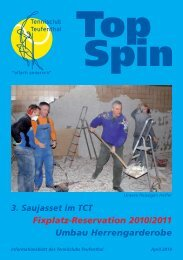 TopSpin 2/10 - Tennisclub Teufenthal