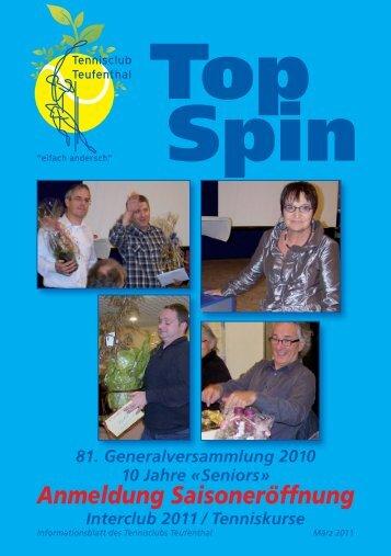 TopSpin 1/11 - Tennisclub Teufenthal
