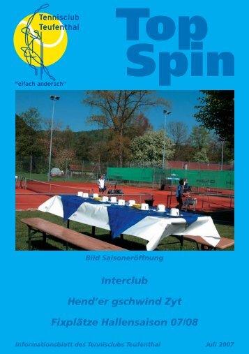 TopSpin 3/07 - Tennisclub Teufenthal