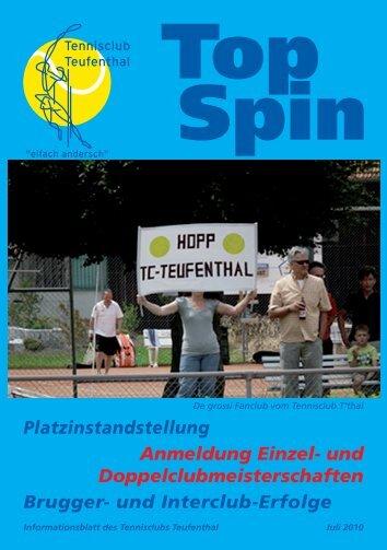 TopSpin 3/10 - Tennisclub Teufenthal