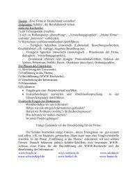 """Arbeitsblatt """"Die deutschen Firmen"""""""