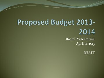 2013-14 proposed budget (pdf) - St. Clair County Community College