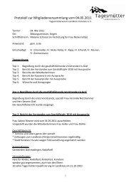 Protokoll Mitgliederversammlung 2011 - Tagesmütterverein Lkr ...