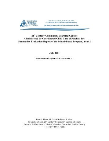 Coordinated Child Care, Inc. Summative Report July 2010