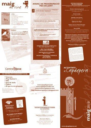 agenda maig 2010 - Ajuntament de Capdepera