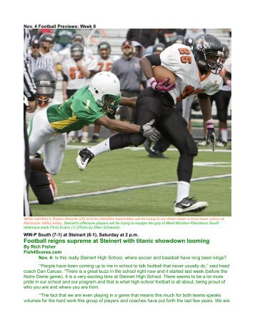 Nov. 4 Football Previews Spartans in Game of the Year - Fish4Scores