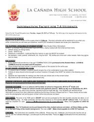 Information Packet for 7-8 Students - La Cañada Unified School ...