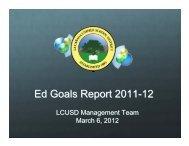 Download the 2012 Ed Goals Report Here - La Cañada Unified ...