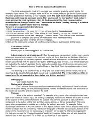 How to Write an Economics Book Review The book review is extra ...