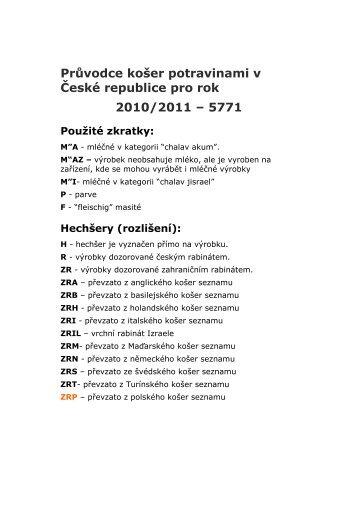 kosher seznam 2010 -2011[1]
