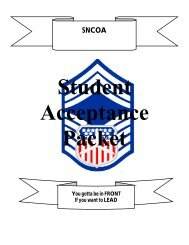 Student Packet - California Wing Cadet Programs