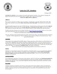 Letter for CPC Attendees - California Wing Cadet Programs