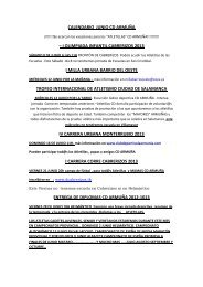 resumen calendario próximo c.d.armuña - CLUB DEPORTIVO LA ...