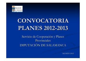 Presentación Servicio de Cooperación y Planes Provinciales