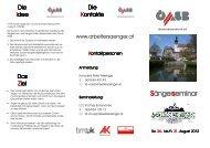 Infofolder zum Download - Chormusik.at