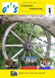 geht's zur kompletten 15. Ausgabe - Mühlbachschule Schemmerhofen