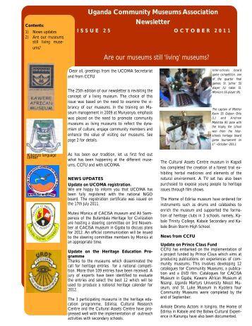 October, 2011 - Cross-Cultural Foundation of Uganda(CCFU)