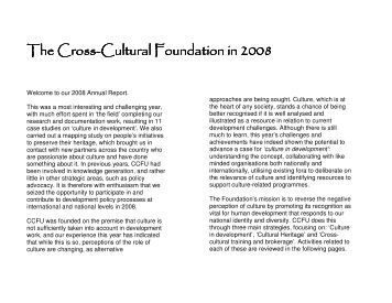 Annual Report - Cross-Cultural Foundation of Uganda(CCFU)