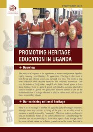 Promoting Heritage Education in Uganda, Policy Brief, 2013.