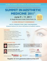 summiT in aesTheTic medicine 2011 - Global Academy for Medical ...