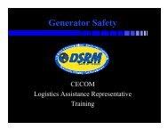 Generator Safety - CECOM