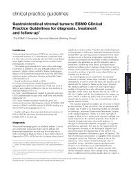 Gastrointestinal stromal tumors: ESMO Clinical Practice Guidelines ...