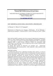 relazione - Associazione Italiana GIST