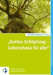 """""""gottes Schöpfung – Lebenshaus für alle"""" - Lothar Kreyssig ..."""