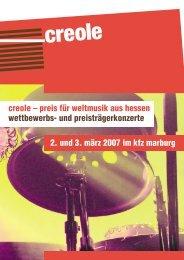 creole – preis für weltmusik aus hessen wettbewerbs- und ...