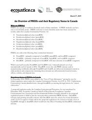 An Overview of PBDEs and their Regulatory Status in Canada