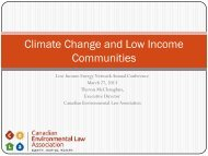 Climate Change and Low Income Communities - Canadian ...