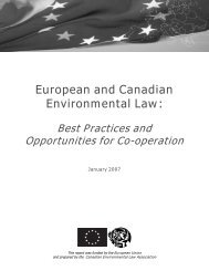 Chemicals Policy in Canada, the European Union and the United ...