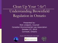 Understanding Brownfields - Canadian Environmental Law ...