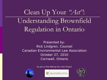 Understanding Brownfields - Canadian Environmental Law ...