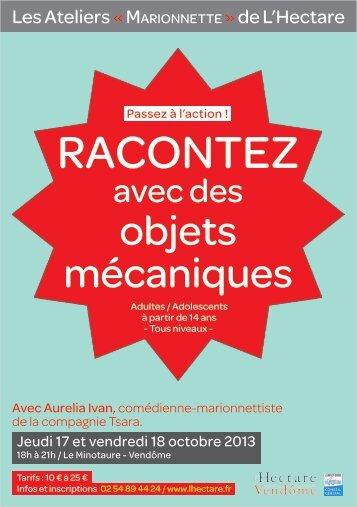 """Bulletin d'Inscription """"Racontez avec des objets ... - L'Hectare"""
