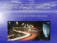 Greenhouse Gas Emissions Inventory for Chapel Hill Street Lights ...