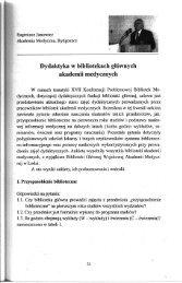 Zadania dydaktyczne współczesnej biblioteki akademickiej i ...