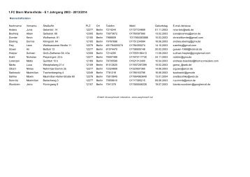 1.FC Stern Marienfelde - E 1 Jahrgang 2003 - 2013/2014